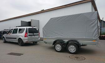 Lada Largus с двухосным прицепом ССТ 7132-10 грузоподъёмностью до 1500 кг