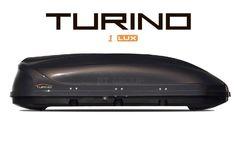 Автобокс Turino 1 LUX (1770x810x460) 410 литров, черный глянец