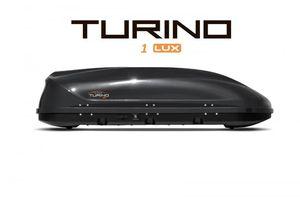 Автобокс Turino 1 LUX (1770x810x460) 410 литров, двустороннее открывание, черный глянец