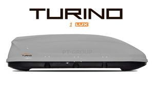 Автобокс Turino 1 LUX (1770x810x460) 410 литров, серый глянец