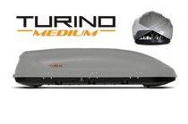 Автобокс Turino Medium (1910x790x460) 460 литров, двустороннее открывание, серый шагрень