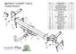 Фаркоп для Fiat Doblo (2001 - 2010) Лидер-Плюс F203-A