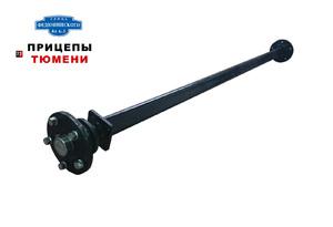 Ось для прицепа усиленная (1300 кг) в сборе со ступицами (5x139,7) длина 2000 мм