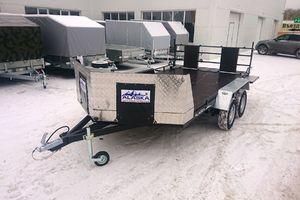 """Прицеп Аляска """"Ракета"""" 71432 для трёх снегоходов"""