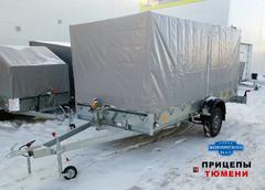 Прицеп Трейлер 829450 (4,1x1,9 / 16 / РЕС) для 2-х снегоходов