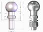 Шар фаркопа тип Е (Хром) Лидер-Плюс SH06E(N)