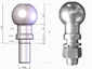 Шар фаркопа тип Е (Цинк) Лидер-Плюс SH06E